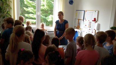 Zu Besuch bei der Schulleiterin